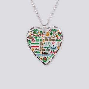 Iran World Cup 2014 Heart Necklace Heart Charm
