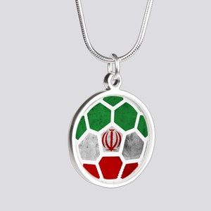Iran World Cup 2014 Silver Round Necklace