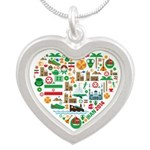 Iran World Cup 2014 Heart Silver Heart Necklace