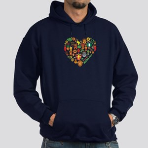 Nigeria World Cup 2014 Heart Hoodie (dark)