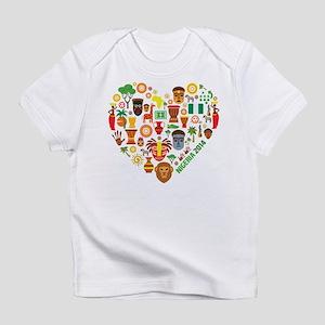 Nigeria World Cup 2014 Heart Infant T-Shirt