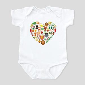 Nigeria World Cup 2014 Heart Infant Bodysuit