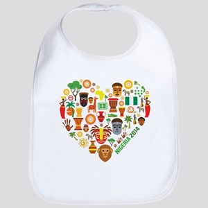 Nigeria World Cup 2014 Heart Bib