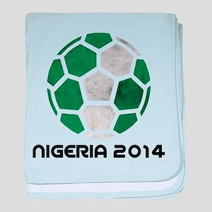Nigeria World Cup 2014 baby blanket