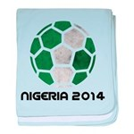 Nigeria World Cup 2014 baby blanket