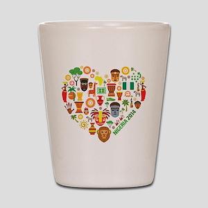 Nigeria World Cup 2014 Heart Shot Glass