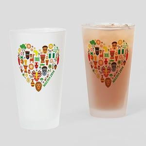 Nigeria World Cup 2014 Heart Drinking Glass