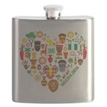 Nigeria World Cup 2014 Heart Flask