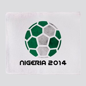 Nigeria World Cup 2014 Throw Blanket