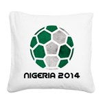 Nigeria World Cup 2014 Square Canvas Pillow