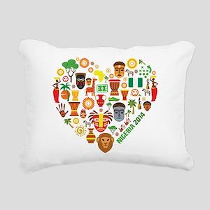 Nigeria World Cup 2014 H Rectangular Canvas Pillow