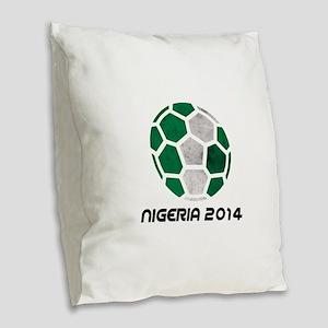 Nigeria World Cup 2014 Burlap Throw Pillow