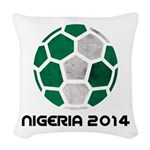 Nigeria World Cup 2014 Woven Throw Pillow