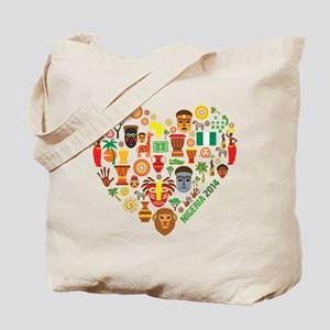 Nigeria World Cup 2014 Heart Tote Bag