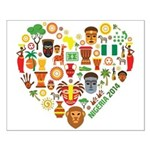 Nigeria World Cup 2014 Heart Small Poster