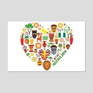 Nigeria World Cup 2014 Heart Mini Poster Print