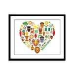 Nigeria World Cup 2014 Heart Framed Panel Print