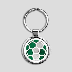 Nigeria World Cup 2014 Round Keychain