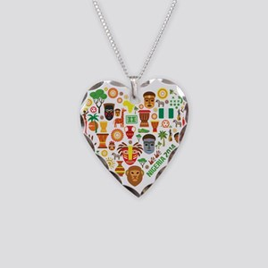 Nigeria World Cup 2014 Heart Necklace Heart Charm
