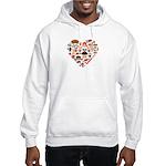 Germany World Cup 2014 Heart Hooded Sweatshirt