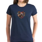 Germany World Cup 2014 Heart Women's Dark T-Shirt
