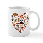 Germany World Cup 2014 Heart Mug
