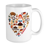 Germany World Cup 2014 Heart Large Mug