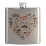 Germany World Cup 2014 Heart Flask