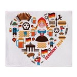 Germany World Cup 2014 Heart Throw Blanket