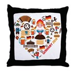 Germany World Cup 2014 Heart Throw Pillow