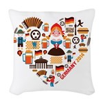 Germany World Cup 2014 Heart Woven Throw Pillow
