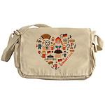 Germany World Cup 2014 Heart Messenger Bag