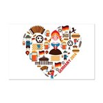Germany World Cup 2014 Heart Mini Poster Print