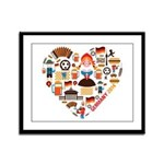 Germany World Cup 2014 Heart Framed Panel Print