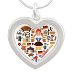 Germany World Cup 2014 Heart Silver Heart Necklace