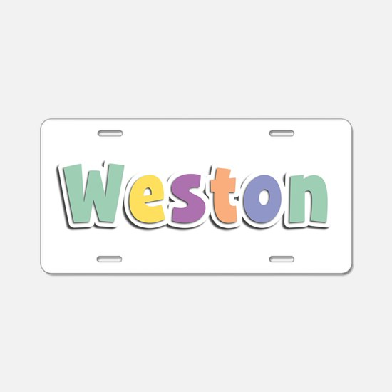 Weston Spring14 Aluminum License Plate