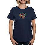 Portugal World Cup 2014 Heart Women's Dark T-Shirt