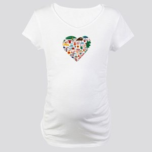 Portugal World Cup 2014 Heart Maternity T-Shirt
