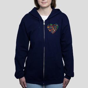 Portugal World Cup 2014 Heart Women's Zip Hoodie