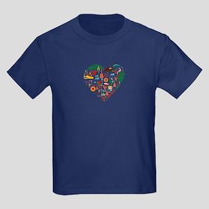 Portugal World Cup 2014 Heart Kids Dark T-Shirt