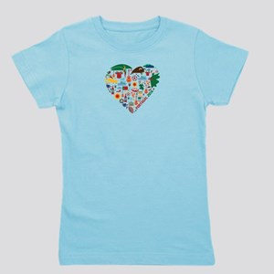Portugal World Cup 2014 Heart Girl's Tee