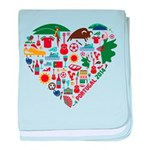 Portugal World Cup 2014 Heart baby blanket