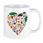 Portugal World Cup 2014 Heart Mug