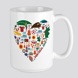 Portugal World Cup 2014 Heart Large Mug