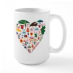 Portugal World Cup 2014 Heart Large Mug