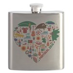 Portugal World Cup 2014 Heart Flask
