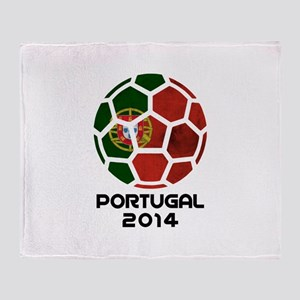 Portugal World Cup 2014 Throw Blanket