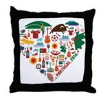Portugal World Cup 2014 Heart Throw Pillow