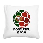 Portugal World Cup 2014 Square Canvas Pillow