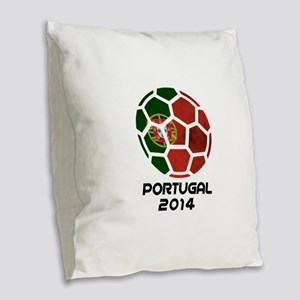 Portugal World Cup 2014 Burlap Throw Pillow